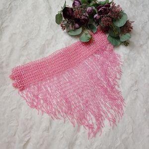 Pink Shimmery Beaded Bellydance or Festival Skirt
